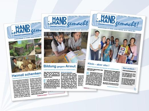 HANDinHAND gemacht - die Info-Zeitung über Hilfe und Spendenaktionen in Indien